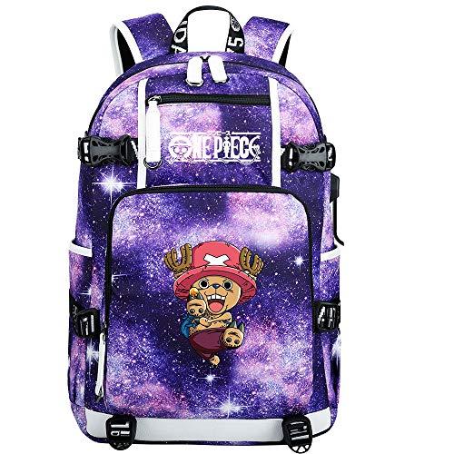 ZZGOO-LL One Piece Monkey·D·Luffy/Tony Tony Chopper Shoulder Bag Outdoor Backpack for Plenty of Storage Bag USB Unisex-G
