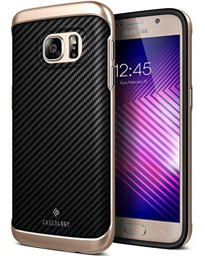 Caseology Envoy for Galaxy S7 Case (2016) - Premium Leather - Carbon Fiber Black