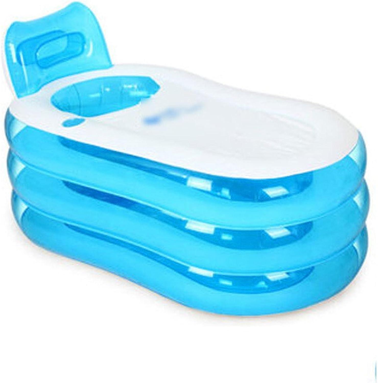 LybCvad Inflatable Bathtub Bathtub Bathtub Plastic Bathtub Bucket Foldable Large Thicken Bathroom Bathtub Transparent bluee Large