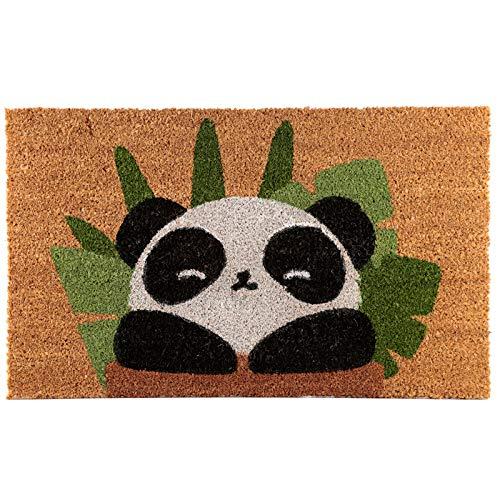 Puckator Felpudo (Fibra de Coco), diseño de Panda, Multicolor, Height 1.5cm Width 75cm Depth 45cm