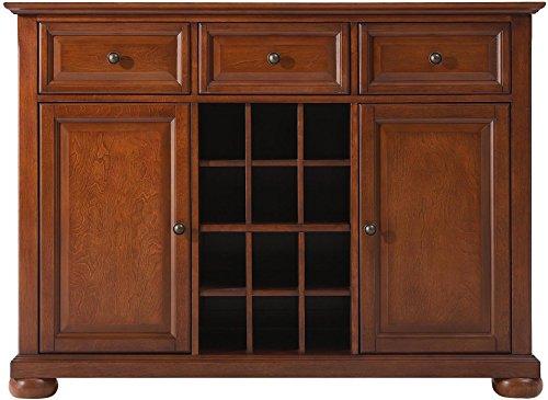 Crosley Furniture Alexandria Wine Buffet / Sideboard - Classic Cherry Dark Cherry Side Server