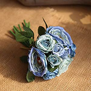 Artificial and Dried Flower 9/18/45 Head Ranunculus Rose Flower Wedding Home Decor Artificial Flower Marriage Collocation Party Decor DIY Bridal Bouquet Q25