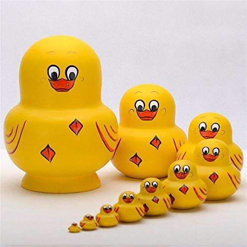YAKELUS, marca profesional de Matrioska, Muñecas Rusas Matrioska 10 piece Madera Matrioska de Rusia de 10 capas, hecha a mano y por el tilo, es un juguete y un regalo10036