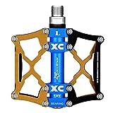 ROCKBROS Pedales Bicicleta Plataforma Pedales Aleación de Aluminio CNC para MTB Bicicleta Carretera BMX, 9/16 Pulgadas
