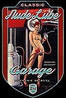 S-RONG雑貨屋 Pinup/Pin Up Nude Lube Garage Car 看板レトロ デザイン壁の装飾贈り物 壁飾り絵30x40cm