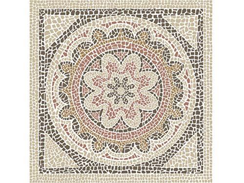 OEDIM Tapis Carpette Vinylique Lino Mosaïques Romaines Sol de Cuisine | 95 cm x 95 cm | Décoration Maison | Tapis en PVC | Sol en Vinyle