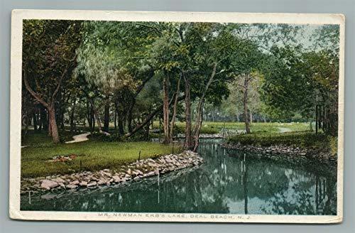 DEAL BEACH NJ MR. NEWMAN ERB'S LAKE ANTIQUE POSTCARD