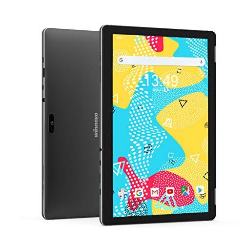 Tablet-4G 10-Pulgadas Android 9.0 PC - Winnovo Tablets LTE Quad Core MT8765 3GB RAM 32GB ROM HD IPS 1280x800 2.0MP+5.0MP Cámara WiFi Bluetooth GPS FM (Negro)