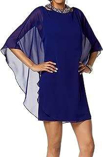 Women's Dress Sheath Beaded-Neckline Keyhole
