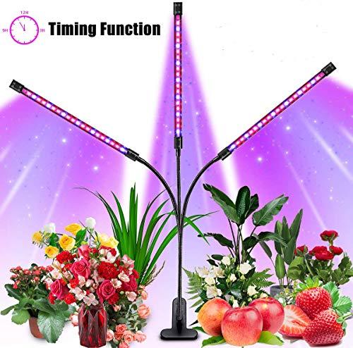 Orthland Pflanzenlampe 36W 72 LED Pflanzenlicht Automatische Zeitschaltuhr Grow Light Lampe Wachstumslampe 10 Dimmbare Helligkeiten für Gewächshaus Pflanzen Zimmerpflanzen