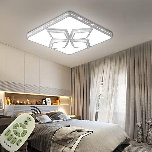 Plafón Lámpara Techo 64W Moderna LED Luz de Techo para Dormitorio Cocina Sala de estar Comedor Balcón Pasillo (Blanco)