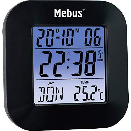 Mebus Funkwecker, digital (Kunststoff schwarz)