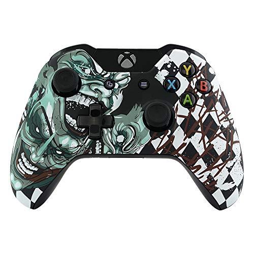 eXtremeRate Cover Custodia Copertura Frontale Guscio Anteriore Scocca Ricambio per Xbox One Standard Controller con/Senza Porta per Jack da Cuffie 3,5mm(Joker)