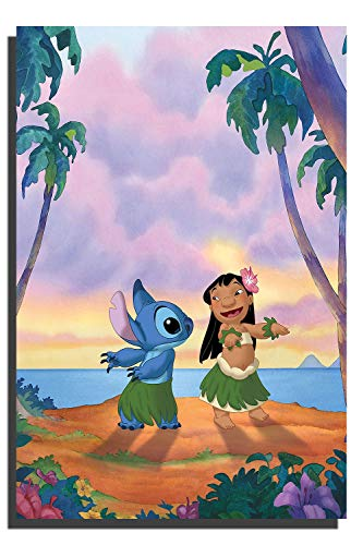 Lilo and Stitch Animated Movie Poster Home Wall Art for Office or Living Room Home Decor No Frame 24x36 inch