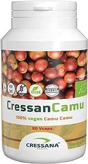 Camu Camu Powder Capsules by Cressana - Organic & Vegan - High in Vitamin C - Benefits Skin, Hair, Nails, Eyes - Boosts Im...