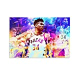 2 Giannis Antetokounmpo Poster Decorative Painting Canvas Wall Art Posters Painting 16x24inch(40x60cm)