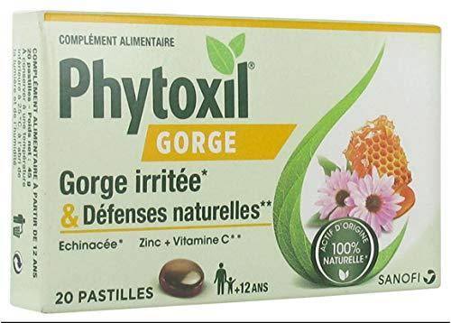 Sanofi Phytoxil garganta irritada y defensas inmunitarias 20 pastillas