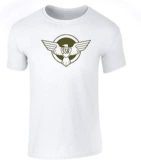 Strategic Scientific Reserve American Captain Costume Graphic Tee T-Shirt for Men