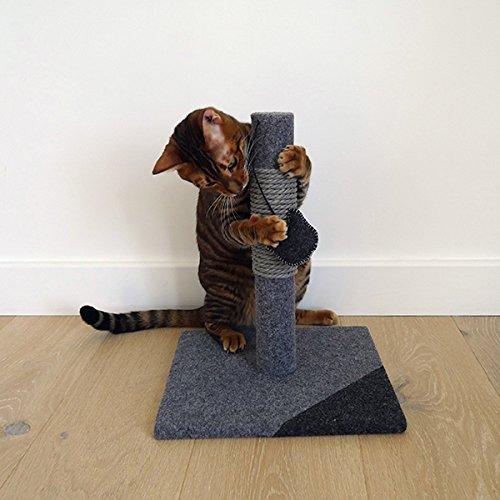 Rosewood Elegante y Moderno Poste rascador para Gatos de carbón Hecho de Fieltro y Cuerda, pequeño, Color Gris
