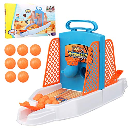 Insuwun Basketball Shooting Game, 2-Player Desktop Table Basketball Games Best Classic Arcade Games Basketball Hoop Set, Fun Activity Toy for Kids Adults Sports Fans - Helps Reduce Stress