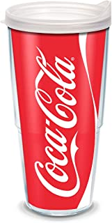 Tervis 1069677 Coca-Cola - Coke Can Tumbler with Wrap and Frosted Lid 24oz, Clear