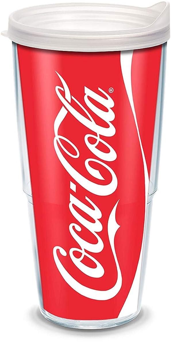 盲信仕事拍手するTervis Coke CanラップTumbler withクリア蓋、24-ounce