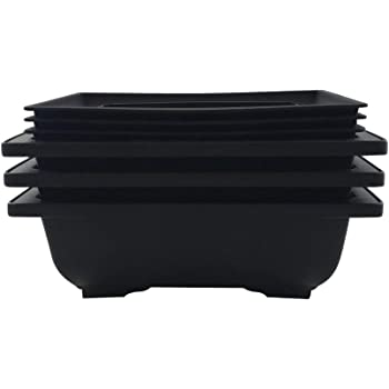 Bonsai Training Pots Humidity Trays - Built in Mesh, Six Inch Large Planters + Made from Durable Shatter Proof Poly-Resin, Set of 3 Pot Set