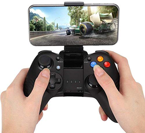 Wireless-Gaming-Controller, Bluetooth Game Controller Mobile Gaming-Controller Gamepad Joystick kompatibel for Android / IOS / PC Windows, USB Rechargeble, ergonomischer Griff USB Rechargeble (Schwarz