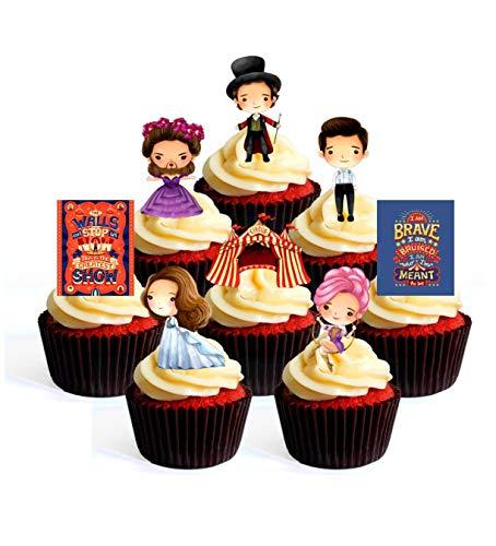 "The Greatest showman 8/"" Round glaçage cake topper"