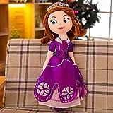 siqiwl Peluche 60cm Prinzessin Schnee Weiß Ariel Rapunzel Spielzeug Merida Cinderella Aurora Belle Prinzessin Gestopft Animla Plüsch Puppen Mädchen Geschenke