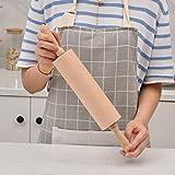 Rodillo Beech Wood Rolling Pin de rodadura de bola de masa envoltura Herramienta de hornear Herramienta de pizza Pasta de pastelería Pastelería Galletas de galleta Herramienta de hornear Superficie no