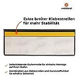Floordirekt Velours-Stufenmatten Sundae | Halbrund oder Eckig | Treppenmatten in 6 Farben | Strapazierfähig & pflegeleicht | Stufenteppich für Innen (Anthrazit, Eckig 65 x 23,5 cm) - 3