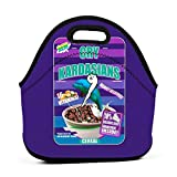 AOOEDM Kim Kardashian cereal trabajo escuela Picnic bolsa de almuerzo aislada bolsa de almuerzo reutilizable para hombres mujeres niños