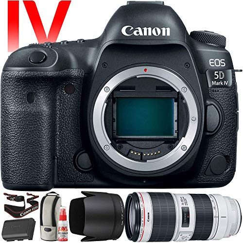 Canon EOS 5D Mark IV DSLR Camera with 70-200mm f/2.8L Lens (International Version) - 30.4 Megapixel - 4K Video with Pro Cleaning Kit Bundle