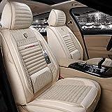 xiaofeng Car Seat Cover Set Completo de Lino Transpirable Cojines Universal Fit Audi A3 / A4 / A5 / A6 / A8 / P3 / P5 / RS4 (Color : Khaki)