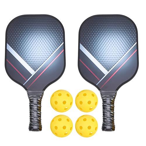 Draagbare pickleball paddle set, lichtgewicht koolstofvezel face augurk bal racket honingraat composiet kern bal kit met opbergtas