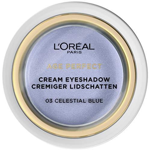 L'Oréal Paris Age Perfect - Ombretto cremoso 03 Celestial blu, texture cremosa, elevata opacità, confezione da 3 (3 x 4 g)
