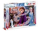 Clementoni- Puzzle 104 Piezas Glitter Frozen 2 (20162.4)