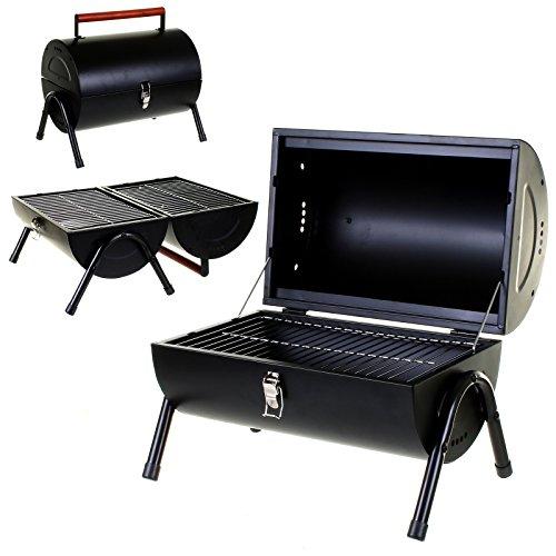 Marko Outdoor BBQ Portable Barrel Barbecue Steel Table Top Outdoor Garden Camping Picnic Grill