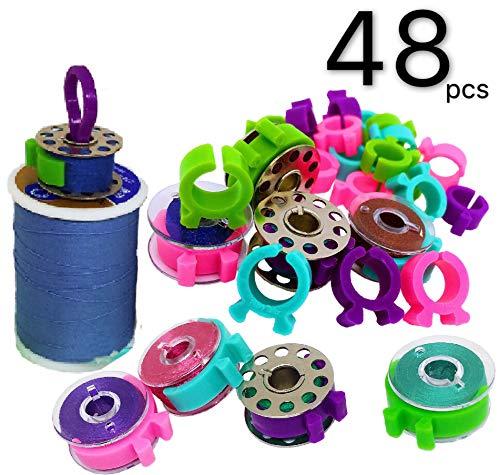 PeavyTailor 48 teilige Fadenspulenhalter-Clips Ideal zum Sticken, Quilten und Nähen von Fäden