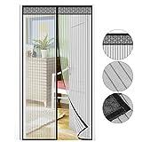 Puerta mosquitera 210 x 90 cm, protección contra insectos, magnética, de gasa, para la Puerta del Sótano, de la terraza, del balcón o del Salón