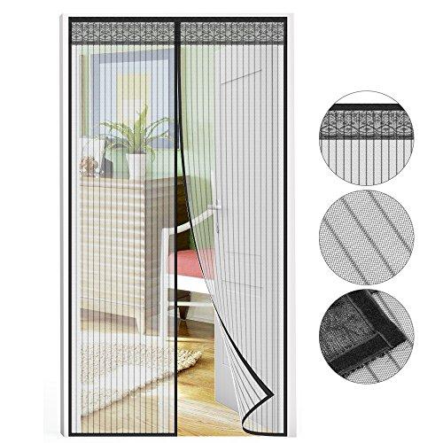 Fliegengitter Tür, Chenci Moskitonetz Fliegenvorhang 210 * 90 CM Insektenschutz verlängerte Magnet verschlüsselte Gaze Vorhang für die Balkontür, Kellertür, Terrassentür, Wohnzimmer