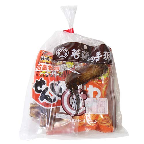 560円 広島名物!若鳥の手羽 ブロイラーとせんじ肉入りおつまみお菓子袋詰め 詰め合わせ 駄菓子 おかしのマーチ