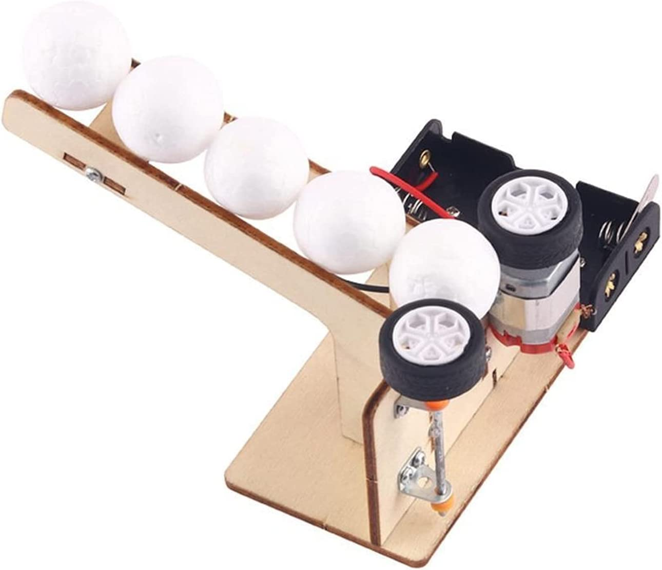 DIY Physics Experiment Model Kit Pitching Ball Rapid rise Electric M Ranking integrated 1st place Wooden