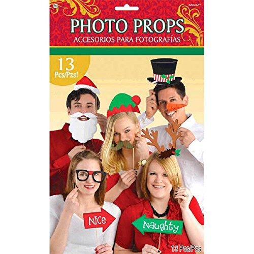 Amscan International 395012 Decorations-New Yearphto kit Noël Prop