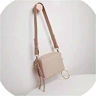 Womens Simple Crossbody Bags Zipper Women Bag Leathers