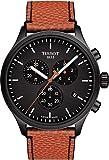 Tissot mens Tissot Chrono XL Stainless Steel Casual Watch Black,Orange T1166173605108