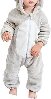 Michley Baby Spielanzug Schlafanzug Flanell Frühling Strampler Pyjama kostüm Bekleidung Karikatur Tier Jumpsuit für mädchen und Junge