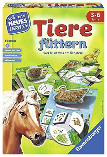 Ravensburger 25034 - Tiere füttern - Spielen und Lernen, Lernspiel für Kinder ab 3-6 Jahren, Spielend Neues Lernen für 1-4 Spieler