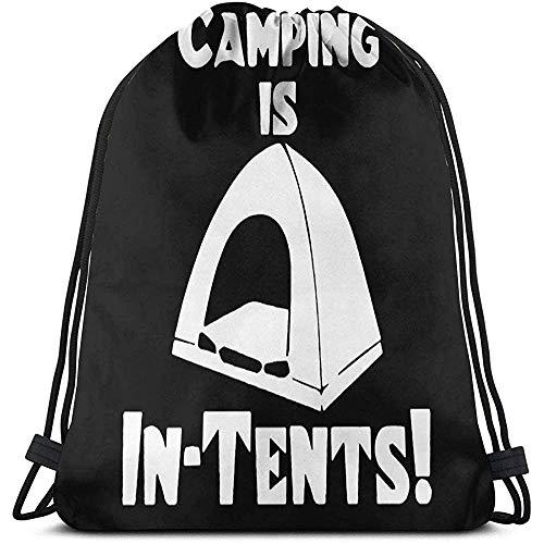 Camping is in tenten met trekkoord tassen en gebruikersgedefinieerde multifunctionele string rugzak duurzame Big CapacityCinch zak draagbare lichte opbergtas